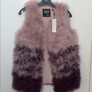 525 America color block feathered vest